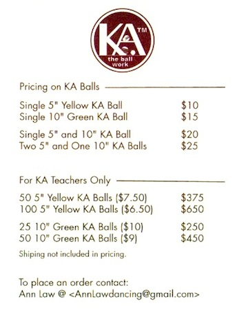 KA-balls by Ann Law - price list